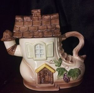 Woman Who Lived In A Shoe Teapot
